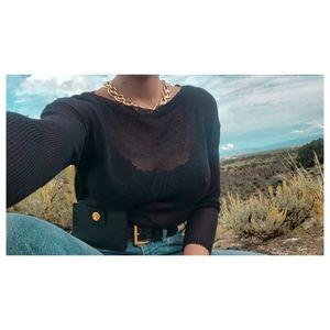 SALE🎁 sheer sweater by RALPH LAUREN sz S